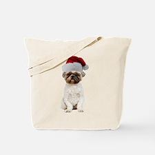 Lhasa Apso Christmas Tote Bag