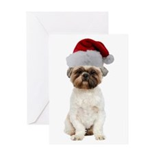Lhasa Apso Christmas Greeting Card
