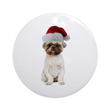 Lhasa Apso Christmas Ornament (Round)