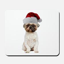 Lhasa Apso Christmas Mousepad