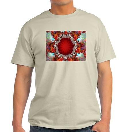 """""""Ruby Tuesday"""" Fractal Art Light T-Shirt"""