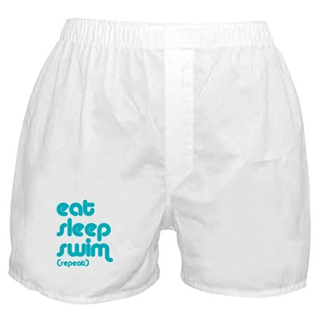 Eat, Sleep, Swim Boxer Shorts