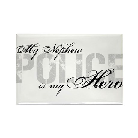 My Nephew is My Hero - POLICE Rectangle Magnet
