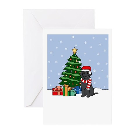 Curly Coat Happy Holidays Greeting Cards (10 Pk)