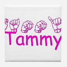 Tammy-pnk Tile Coaster