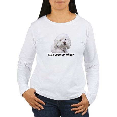Bichon Frise Dog Women's Long Sleeve T-Shirt