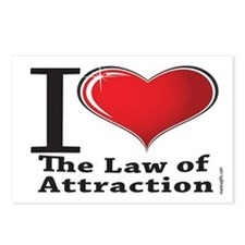 Love the Law of Attraction Postcards (Package of 8