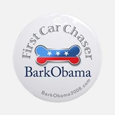 Bark Obama Ornament (Round)