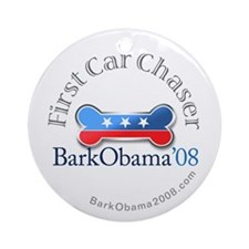 Bark Obama First Car Chaser Ornament (Round)