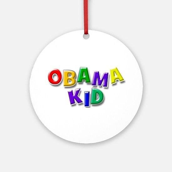 Obama kid Ornament (Round)