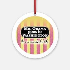 James Stewart/Barack Obama Ornament (Round)