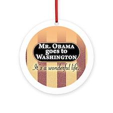 James Stewart/Barack Obama Christmas ornament