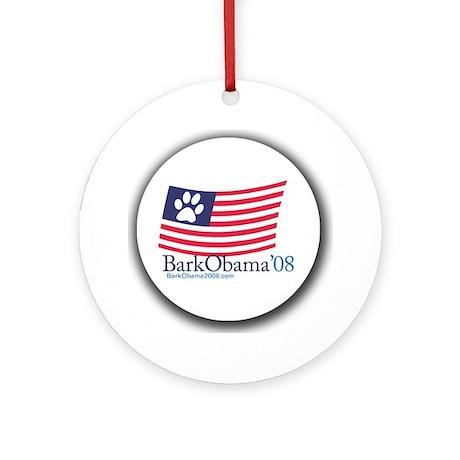 Bark Obama US flag Ornament (Round)