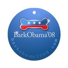 Bark Obama Ornament (Round)