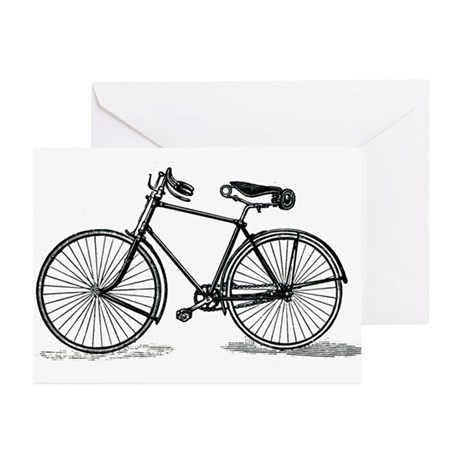 Old Bike (M) Greeting Cards (Pk of 10)