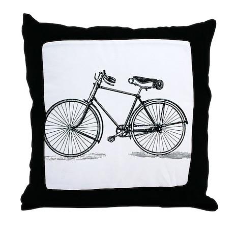 Old Bike (M) Throw Pillow