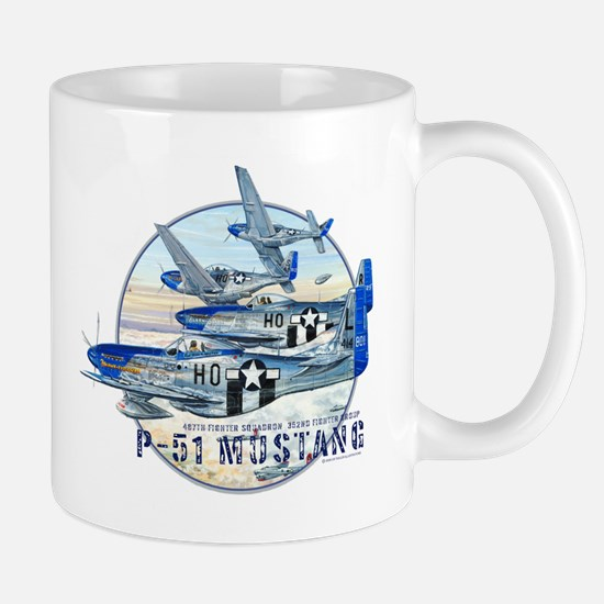 WWII 352nd FG P-51 Mustang airplane Mug