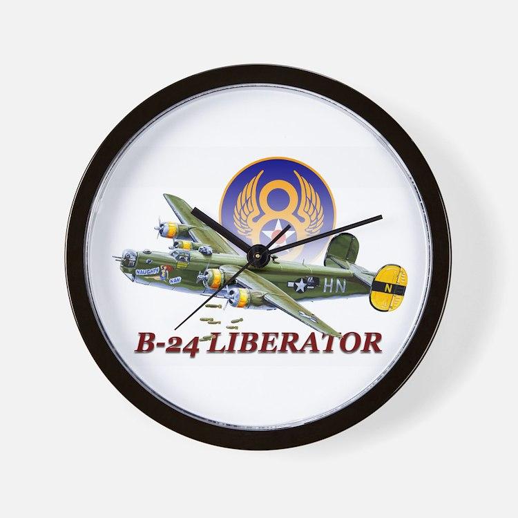 WWII 8th Air Force B-24 Liberator Wall Clock