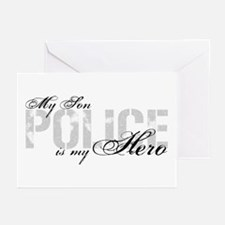 My Son is My Hero - POLICE Greeting Cards (Pk of 1