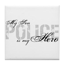 My Son is My Hero - POLICE Tile Coaster