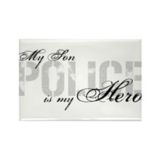 My Son is My Hero - POLICE Rectangle Magnet
