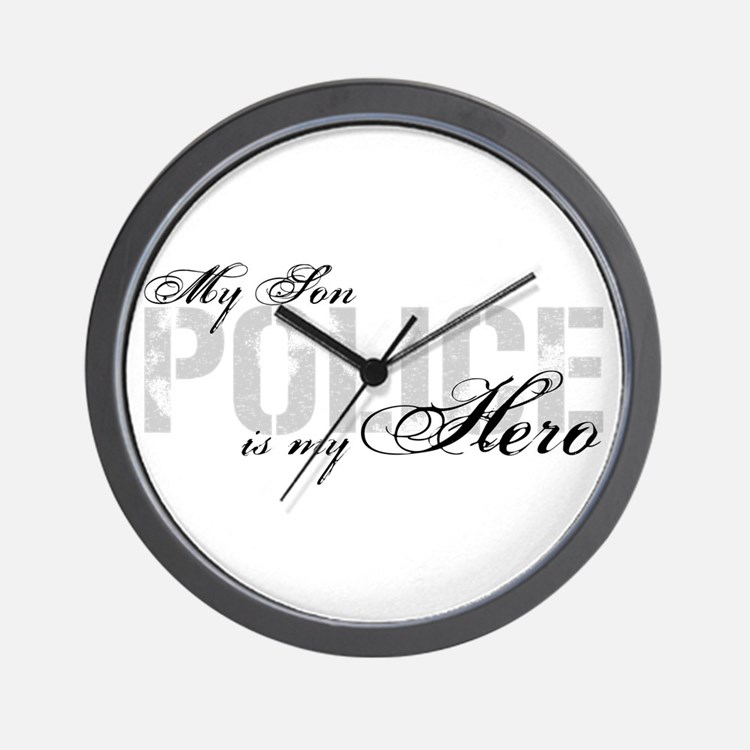 My Son is My Hero - POLICE Wall Clock