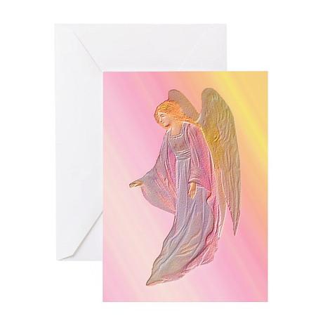 Pink Angel Blank Card