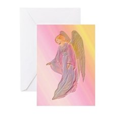 Pink Angel Christmas Cards with verse (Pk of 10)