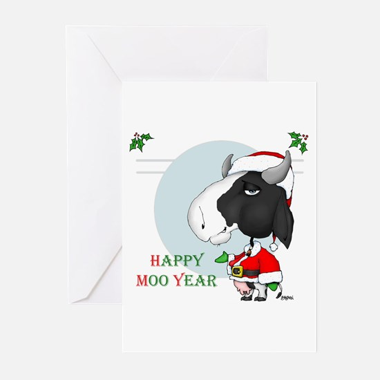 Happy Moo Year Greeting Cards (Pk of 20)