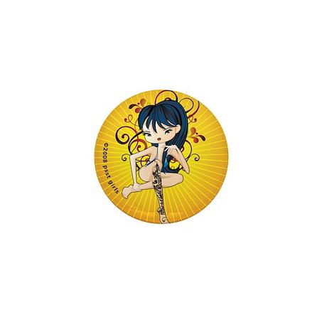 Tattoo Girl Mini Button