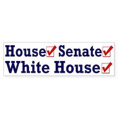 Democratic Party Sweep Bumper Bumper Sticker