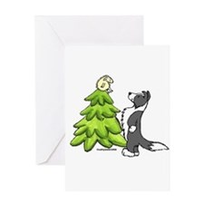 Border Collie Christmas Greeting Card