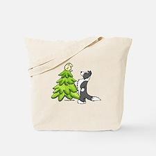Border Collie Christmas Tote Bag