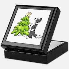 Border Collie Christmas Keepsake Box
