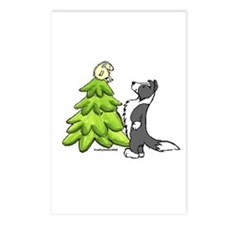 Border Collie Christmas Postcards (Package of 8)