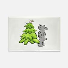 Schnauzer Christmas Rectangle Magnet