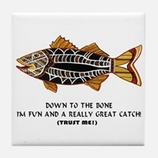 A Great Catch Tile Coaster