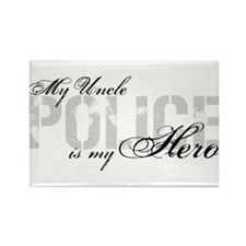 My Uncle is My Hero - POLICE Rectangle Magnet