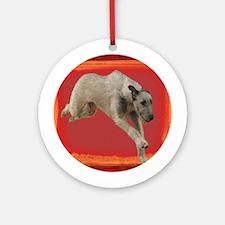 Irish Wolfhound Running Ornament (Round)