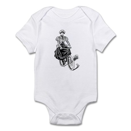Vintage cyclist Infant Bodysuit