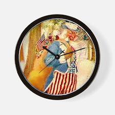 Uncle Sam Santa Claus Wall Clock