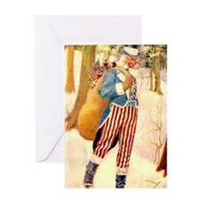 Uncle Sam Santa Claus Greeting Card