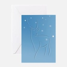 Snow Deer with verse Holiday Card