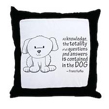 Kafka Dog Throw Pillow