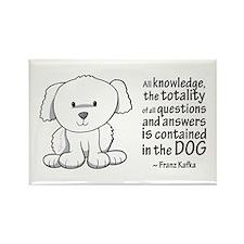 Kafka Dog Rectangle Magnet (100 pack)
