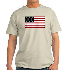 USA Flag Ash Grey T-Shirt