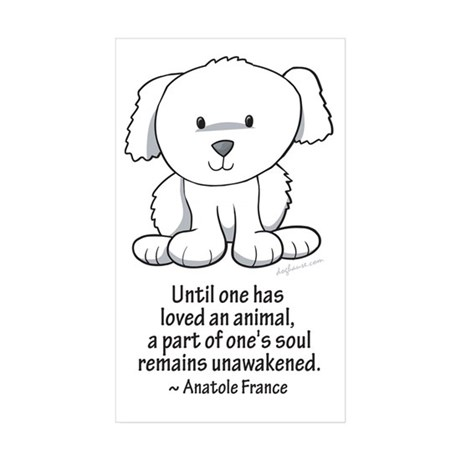 Loved an Animal Rectangle Sticker 10 pk)