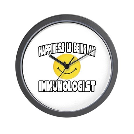 """Happiness...Immunologist"" Wall Clock"
