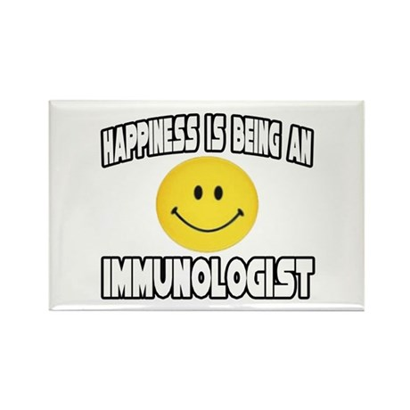 """Happiness...Immunologist"" Rectangle Magnet (10 pa"