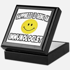 """Happiness...Immunologist"" Keepsake Box"